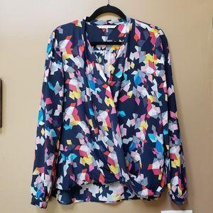 Trina Turk silk Confetti long sleeve blouse